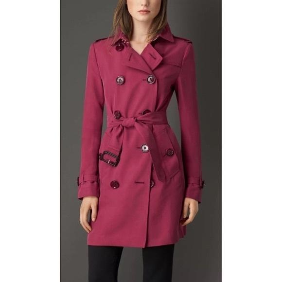 Burberry London silk trench coat